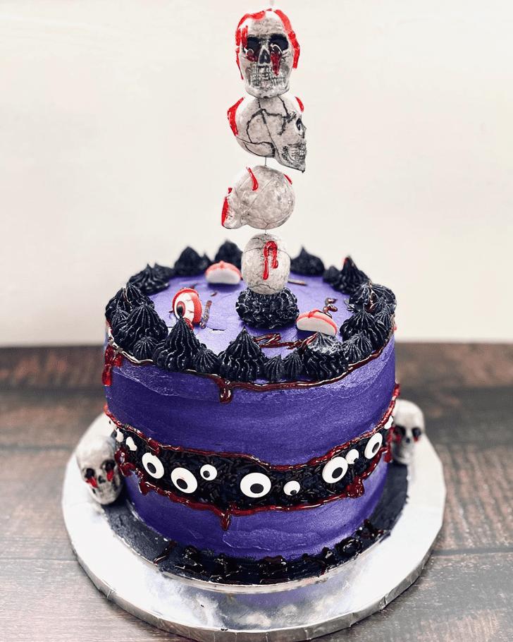 Pleasing Creepy Cake
