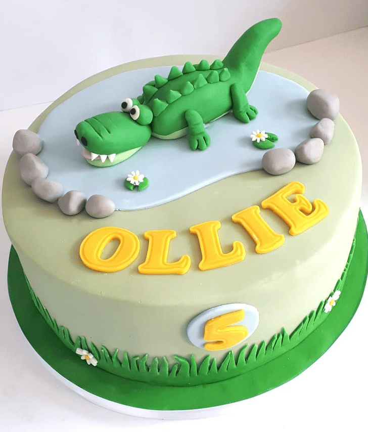 Adorable Crocodile Cake