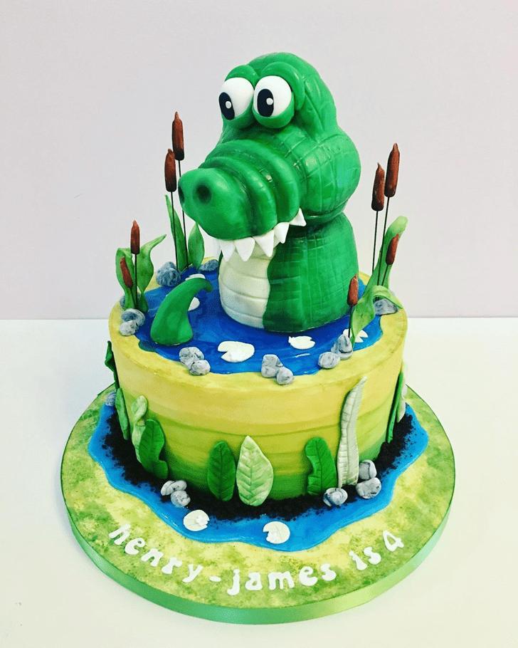 Alluring Crocodile Cake