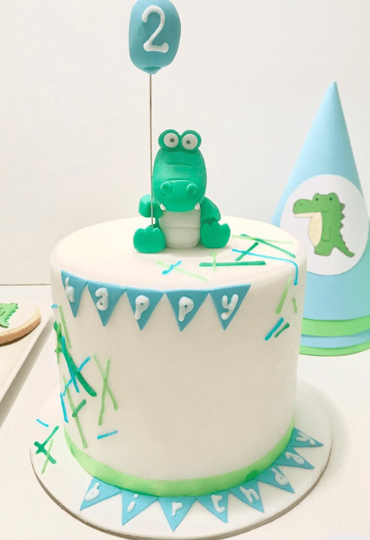 Angelic Crocodile Cake