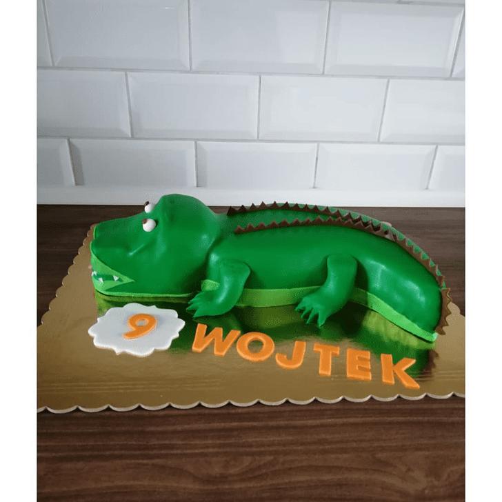 Charming Crocodile Cake