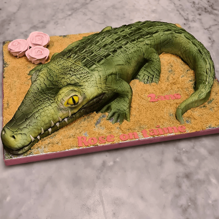 Dazzling Crocodile Cake