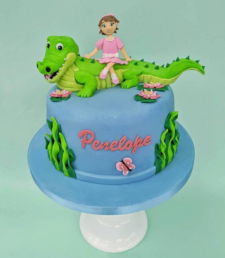 Delicate Crocodile Cake