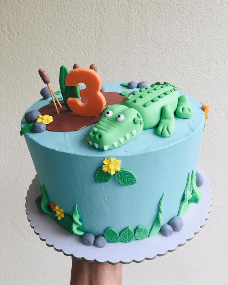 Graceful Crocodile Cake