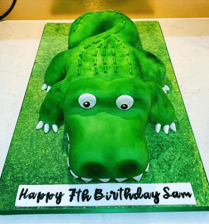 Lovely Crocodile Cake Design