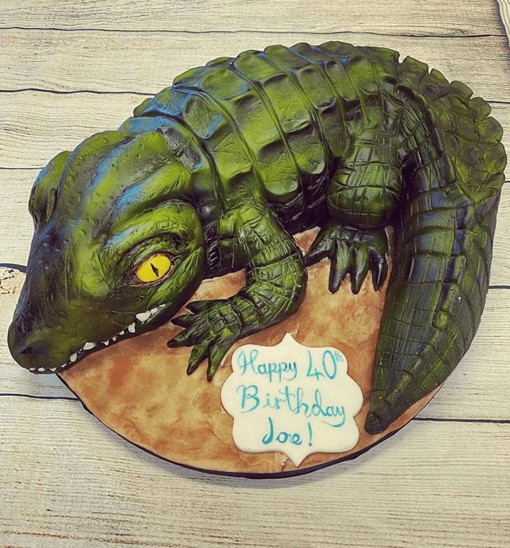 Mesmeric Crocodile Cake