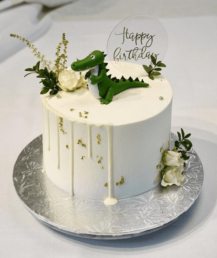 Crocodileful Crocodile Cake Design