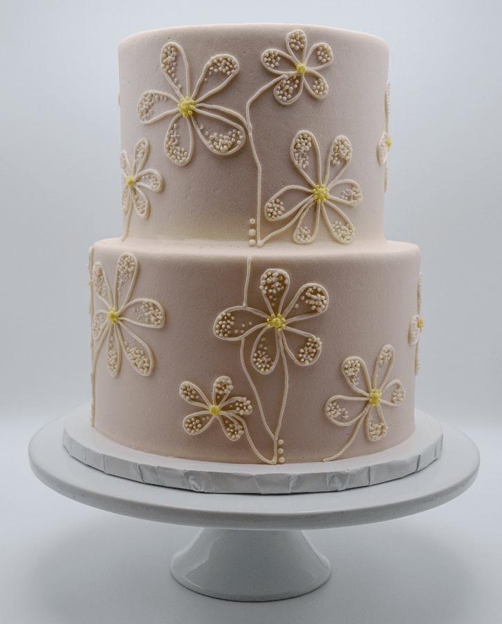 Alluring Daisy Cake