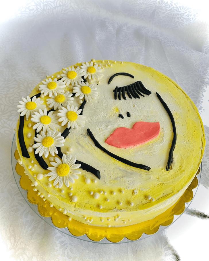 Refined Daisy Cake