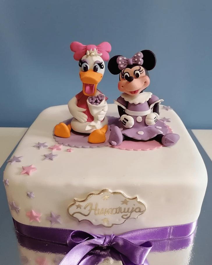 Refined Daisy Duck Cake