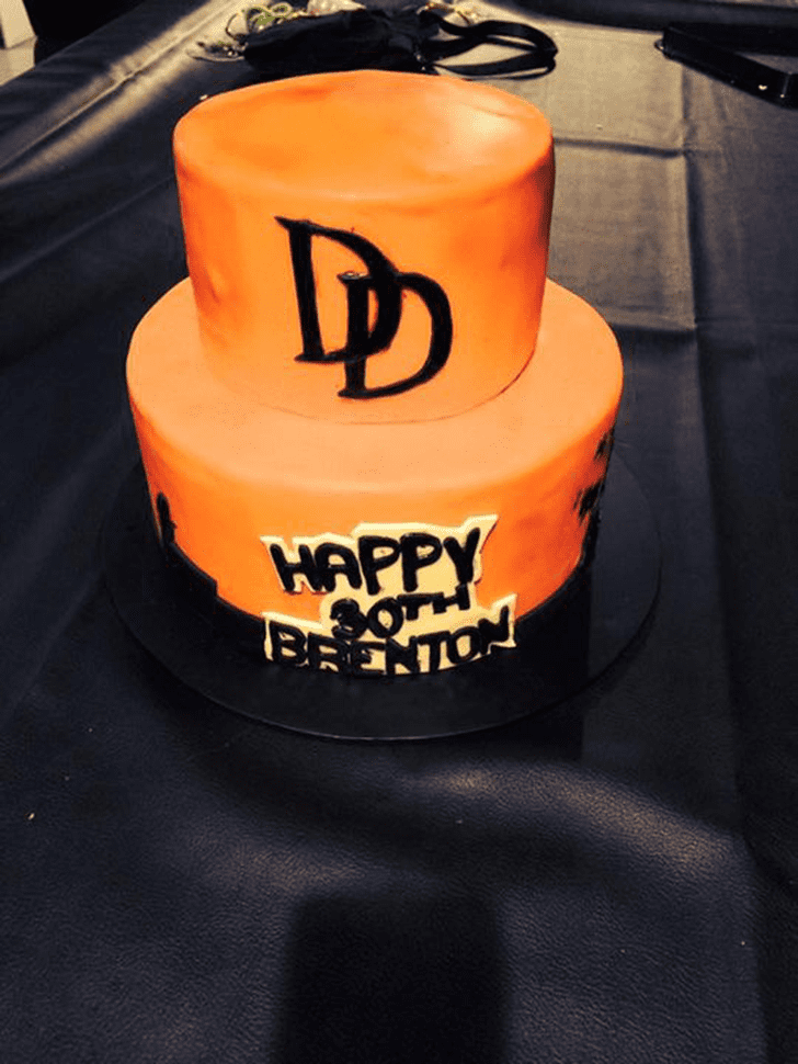 Alluring Daredevil Cake