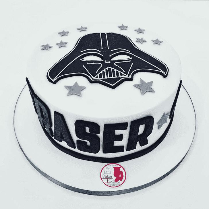 Alluring Darth Vader Cake