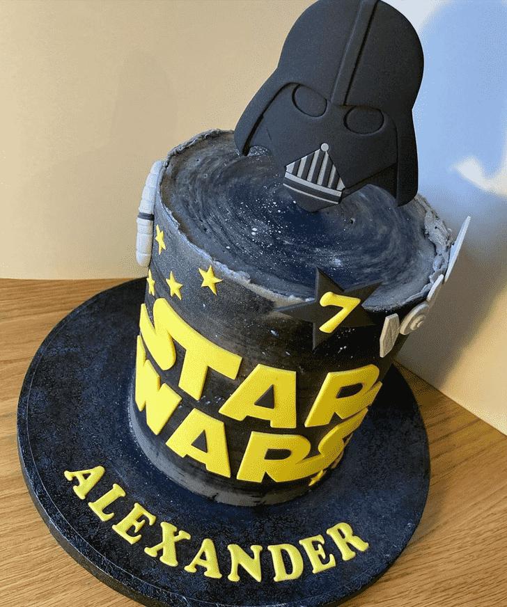 Angelic Darth Vader Cake