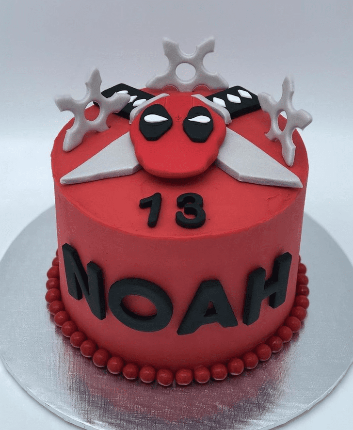 Adorable Deadpool Cake