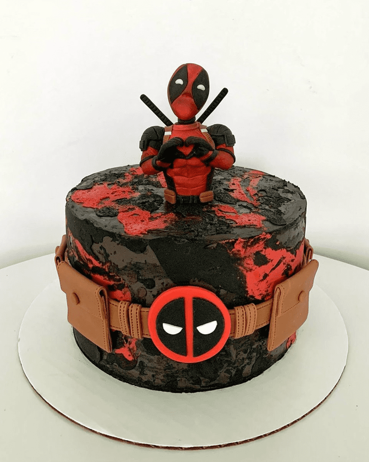 Alluring Deadpool Cake