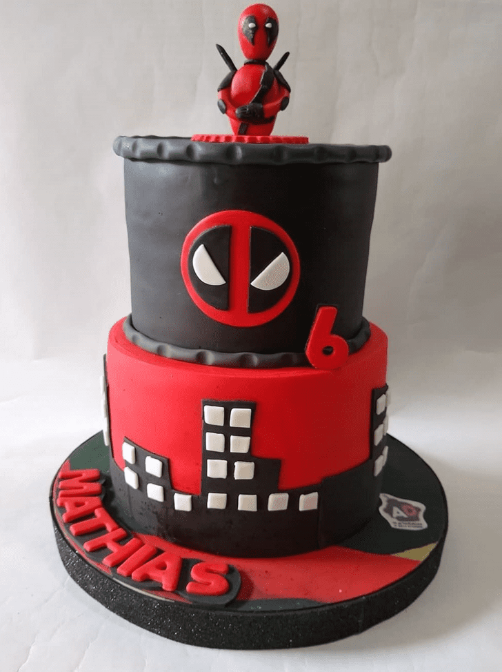 Angelic Deadpool Cake