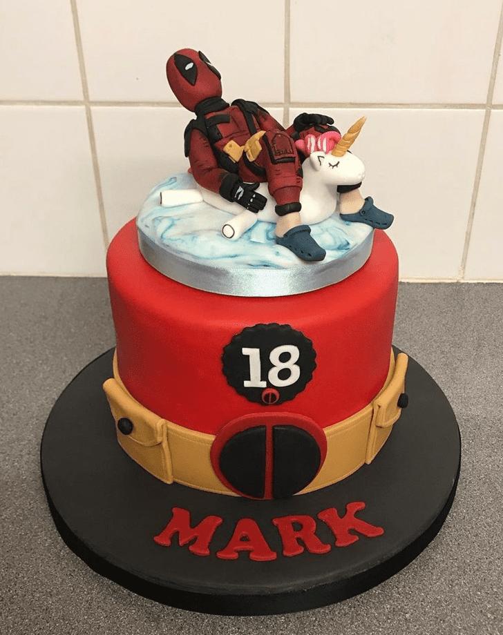 Appealing Deadpool Cake