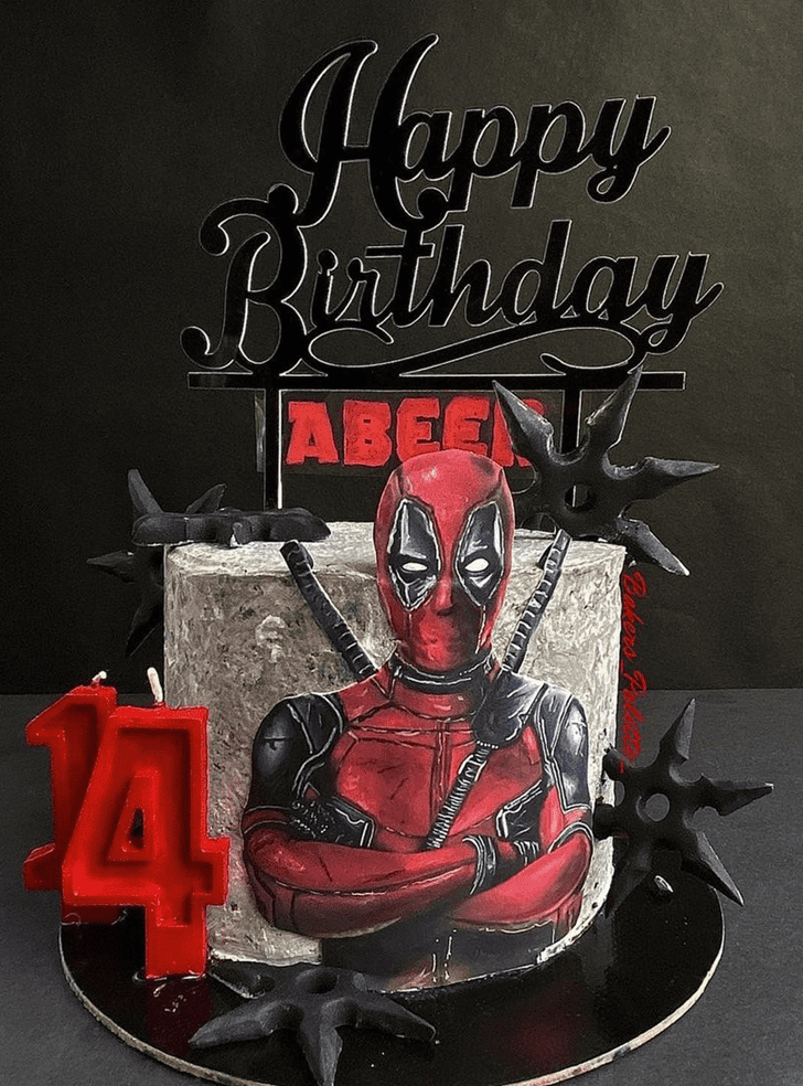 Beauteous Deadpool Cake