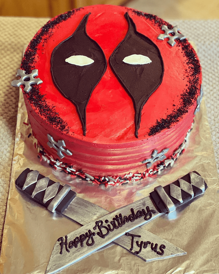 Bewitching Deadpool Cake
