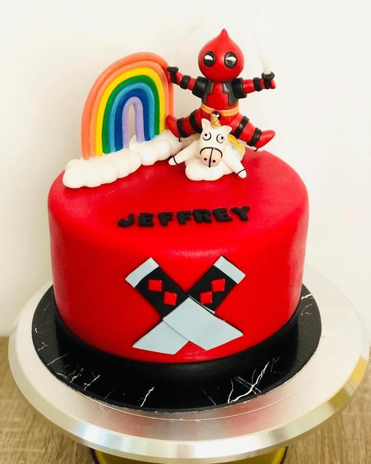 Captivating Deadpool Cake