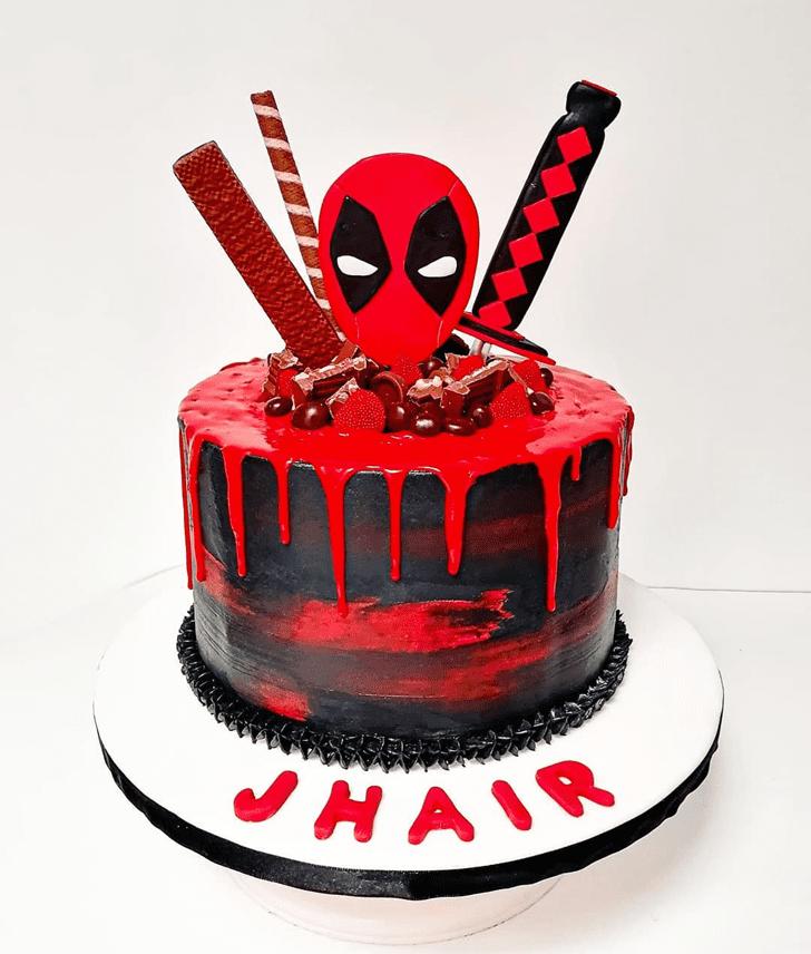 Charming Deadpool Cake