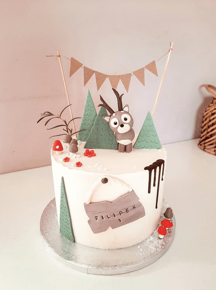Charming Deer Cake
