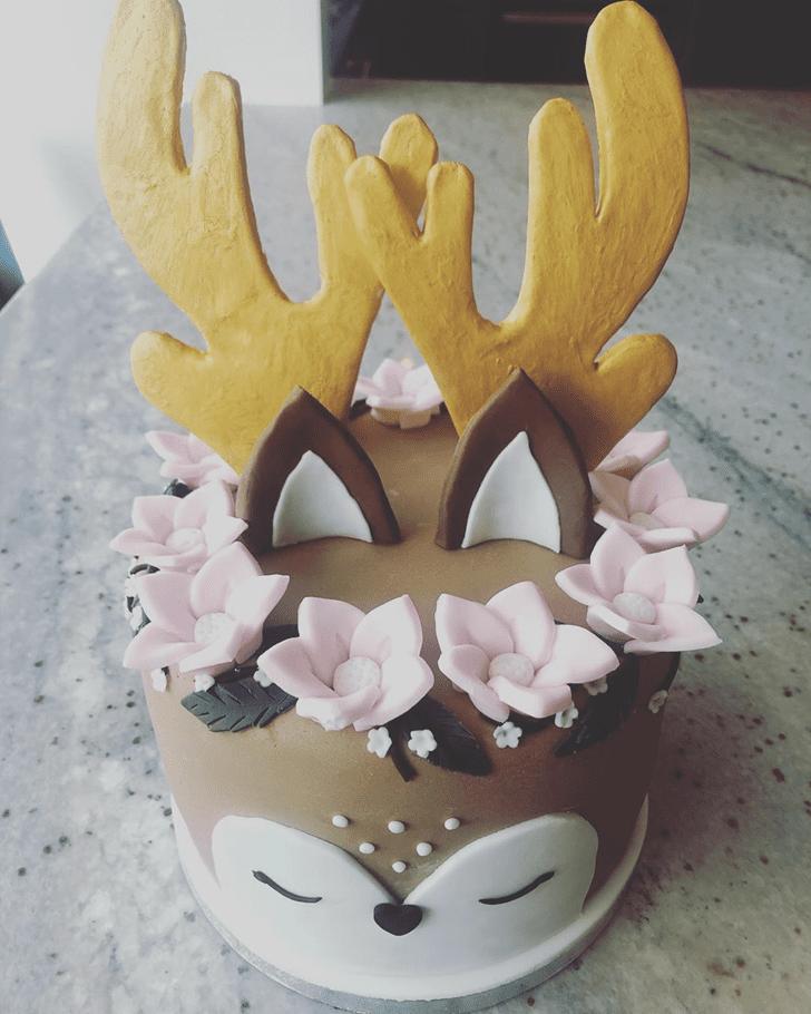 Shapely Deer Cake