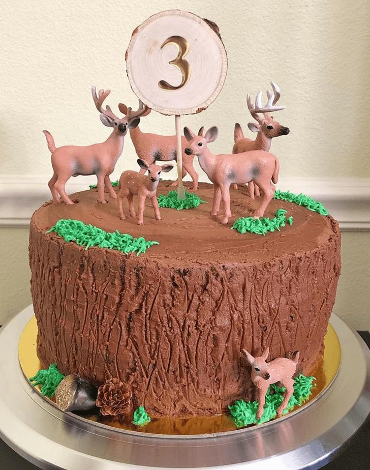 Wonderful Deer Cake Design