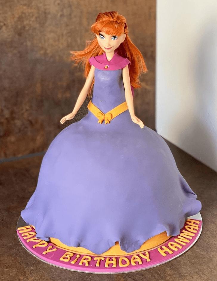 Admirable Disneys Anna Cake Design