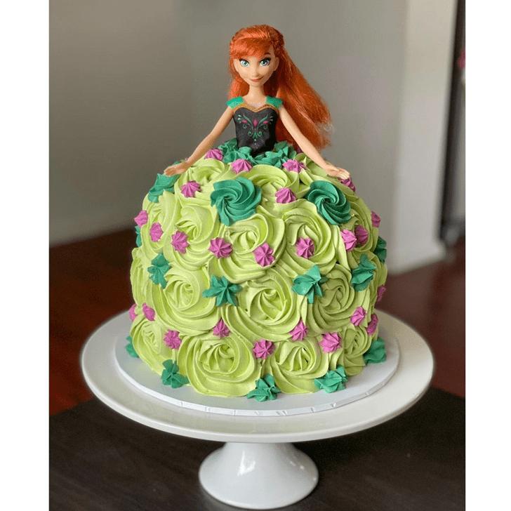 Delicate Disneys Anna Cake