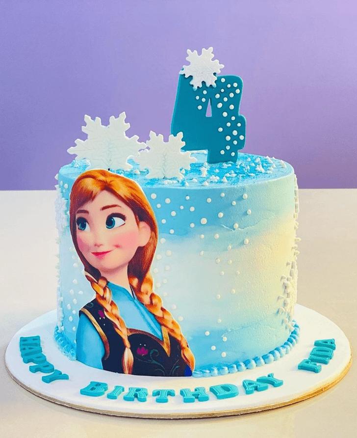 Enthralling Disneys Anna Cake