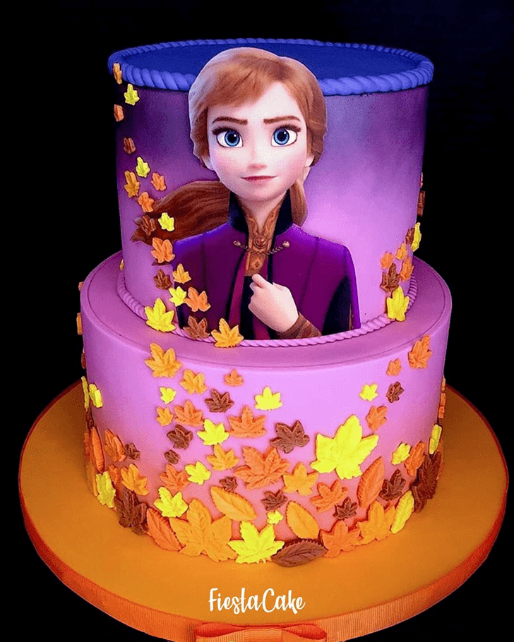 Enticing Disneys Anna Cake