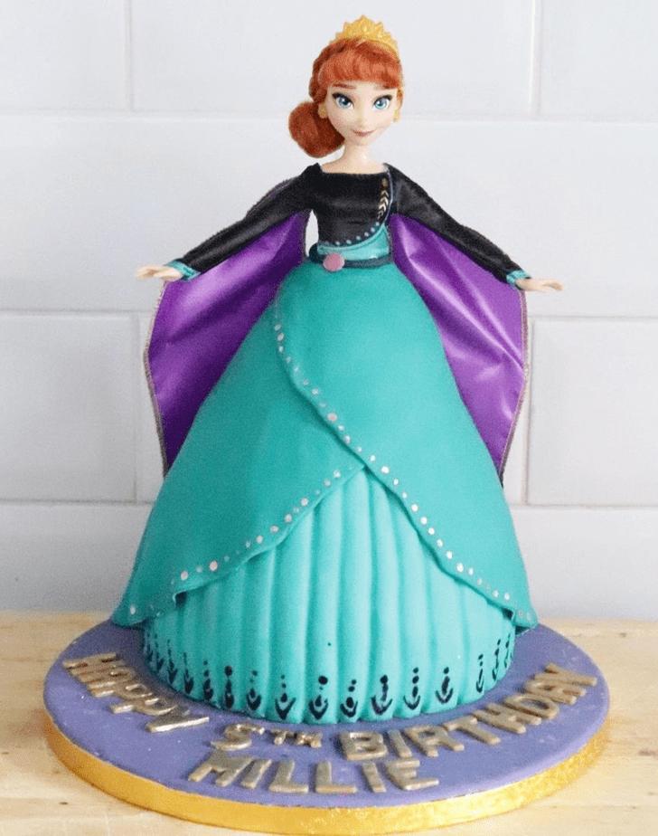 Handsome Disneys Anna Cake