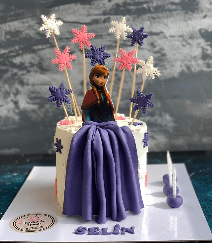 Refined Disneys Anna Cake