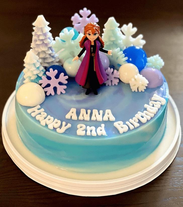 Slightly Disneys Anna Cake
