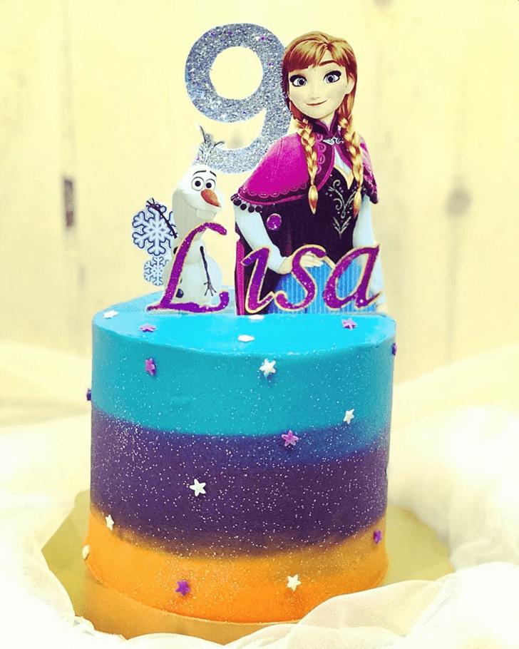 Wonderful Disneys Anna Cake Design