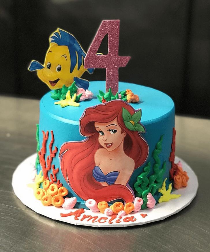 Admirable Disneys Ariel Cake Design
