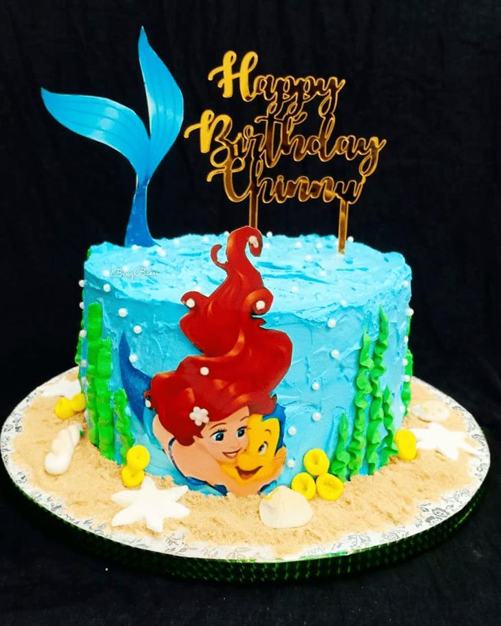 Appealing Disneys Ariel Cake
