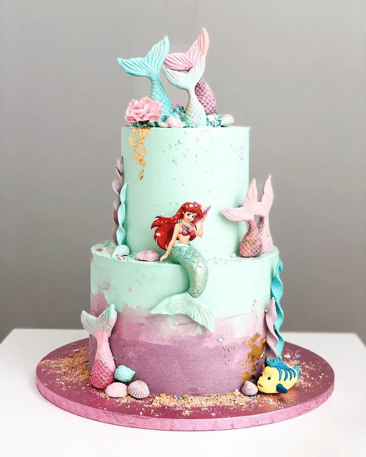 Bewitching Disneys Ariel Cake