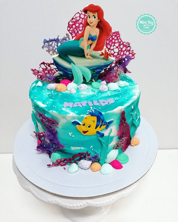 Handsome Disneys Ariel Cake