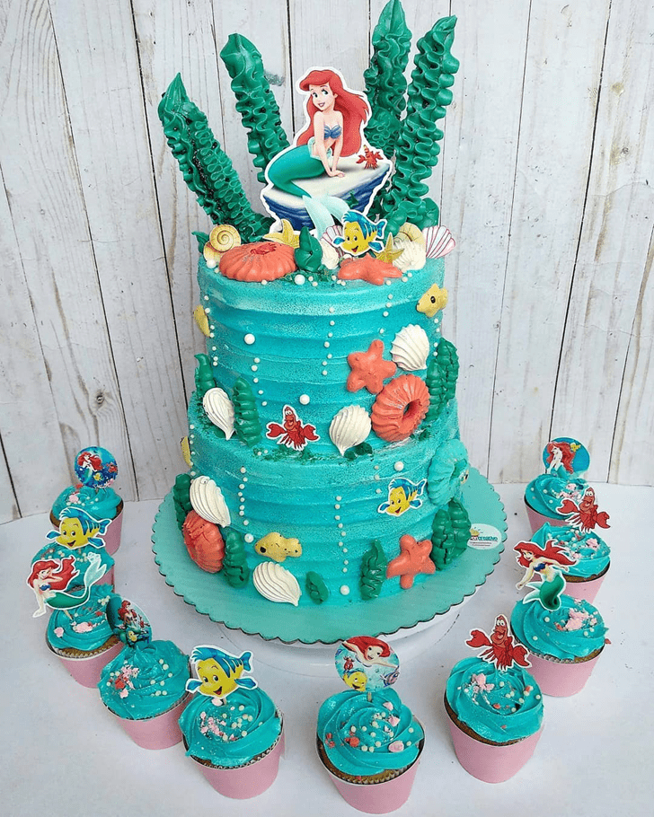 Marvelous Disneys Ariel Cake