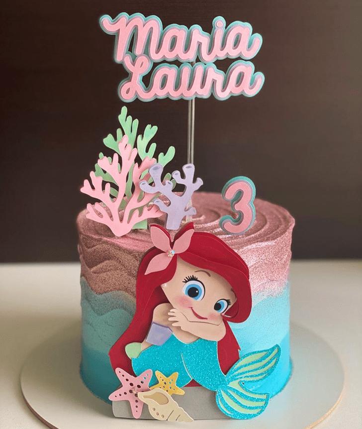 Refined Disneys Ariel Cake