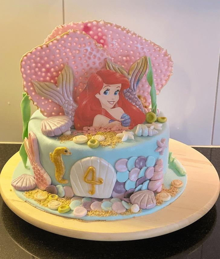 Resplendent Disneys Ariel Cake