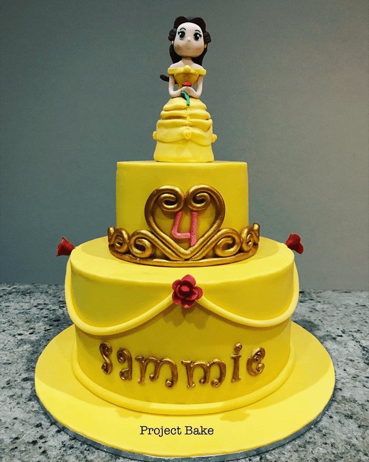 Lovely Disneys Belle Cake Design
