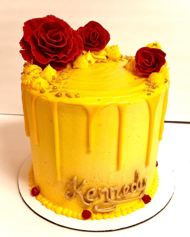 Refined Disneys Belle Cake