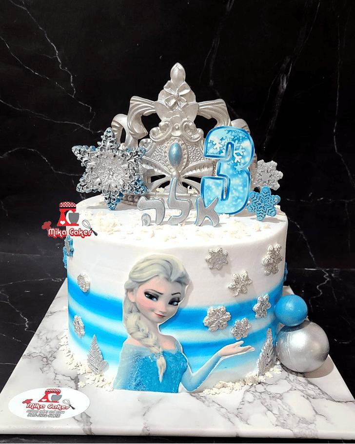 Fascinating Disneys Elsa Cake
