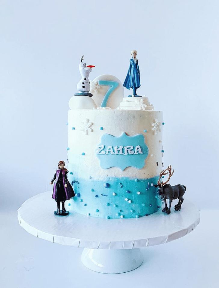 Radiant Disneys Elsa Cake