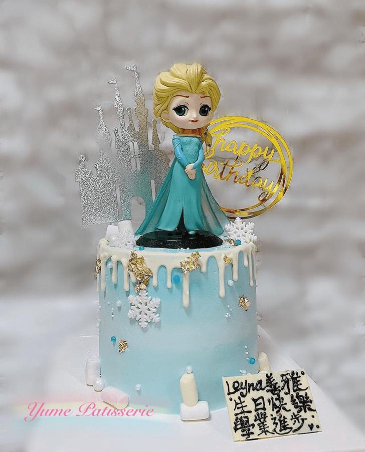 Slightly Disneys Elsa Cake