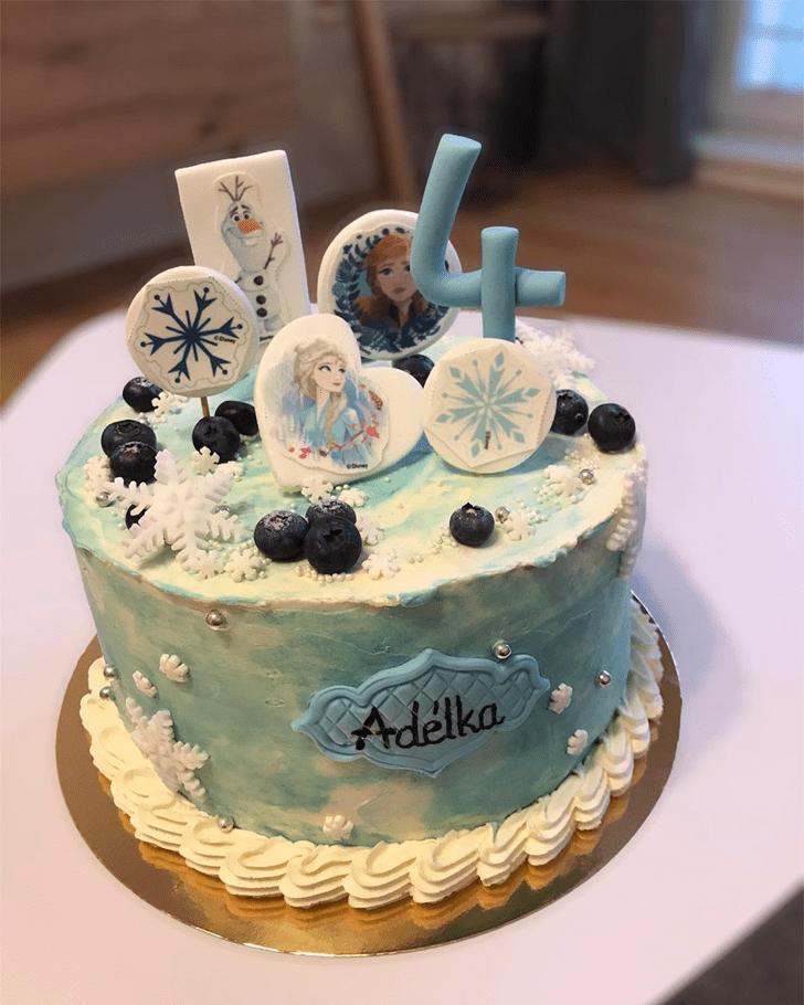 Wonderful Disneys Elsa Cake Design