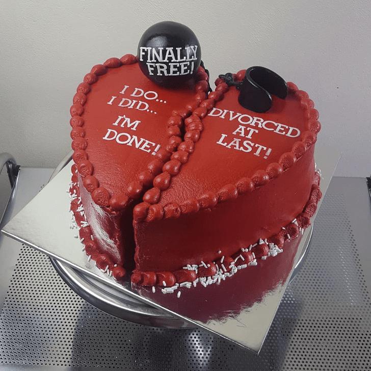 Beauteous Divorce Cake